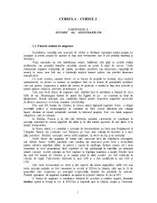 Istoric al Asigurarilor - Capitolul 1 - Pagina 1