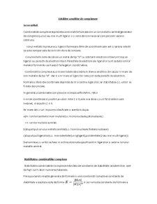 Echilibre Analitice de Complexare - Pagina 1