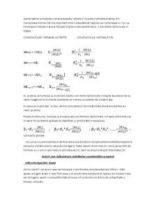 Echilibre Analitice de Complexare - Pagina 2