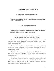 Proiectarea unei Secții de Obținere a Specialităților din Carne - Pagina 1
