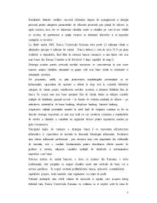 Lucrare de Practica la Banca Comerciala Romana SA - Sucursala Libertatii-Bucuresti - Pagina 4