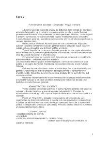 Functionarea Societatii Comerciale. Reguli Comune - Pagina 1