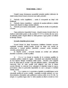 Drept Roman - Suport de Curs - Pagina 1