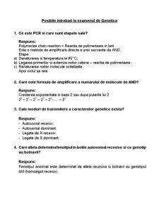 Intrebari Genetica Examen Titu Maiorescu - Pagina 1