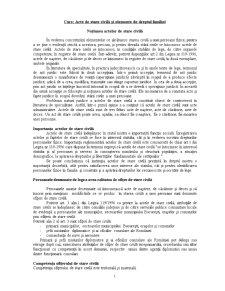 Acte de Stare Civila si Elementele Dreptului Familiei - Pagina 1