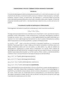 Dehidrogenari si Procese Combinate pentru Obtinerea de Monomeri - Pagina 1