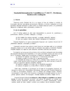 Standardul International de Contabilitate 37 - Pagina 1