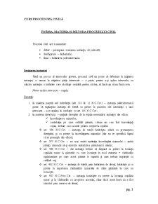 Procedura Civila - Partea Generala - Pagina 1
