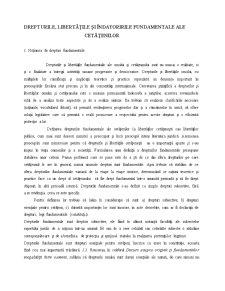Drepturile, Lilertatile si indatoririle Fundamentale ale Cetatenilor - Pagina 1