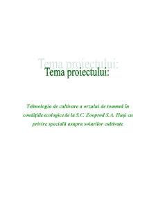 Tehnologia de Cultivare a Orzului de Toamna in Conditiile Ecologice de la SC Zooprod SA Husi - Pagina 1