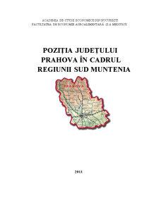 Pozitia Judetului Prahova in Regiunea Sud - Pagina 1