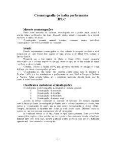 Cromatografia Lichida de Inalta Performanta - Pagina 1
