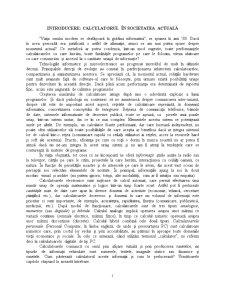 Calculatorul în Societatea Actuală - Pagina 1