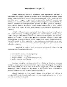 Discursul Institutional - Pagina 1