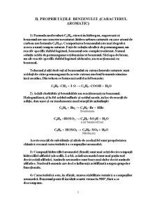 Structura Benzenului si Starea Aromatica - Pagina 2