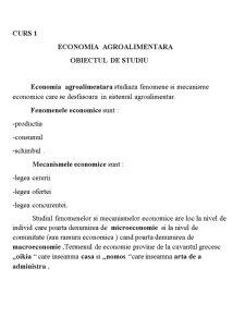Economie Agrara - Pagina 1