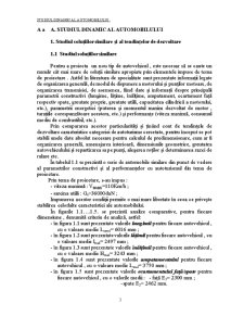 Studiul Dinamic al Automobilului - Pagina 1