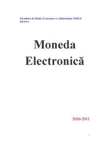 Moneda Electronică - Pagina 1