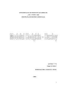 Modelul Hodgkin-Huxley - Pagina 1