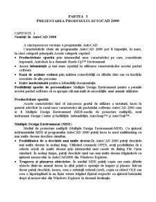 Grafica Asistata - AutoCAD 2000 - Pagina 1