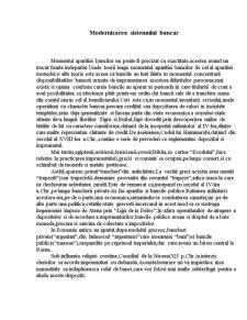 Modernizarea Sistemului Bancar - Pagina 1