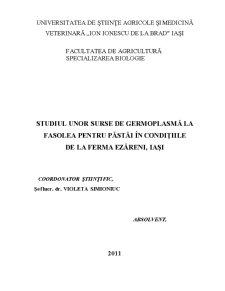 Considerații Generale Privind Cultura și Ameliorarea Fasolei Pentru Păstăi - Pagina 2