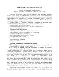 Psihologie Transpersonala - Pagina 1
