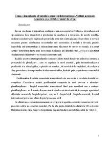 Importanta Dreptului Comercial International si Suveranitatea - Pagina 1