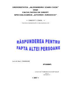 Răspunderea pentru Fapta altei Persoane - Pagina 1