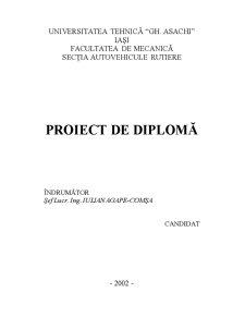 Proiect de Diplomă - Motoare cu Ardere Internă - Pagina 1