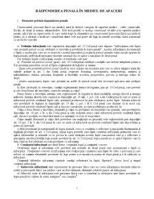 Răspunderea Penală în Mediul de Afaceri - Pagina 1