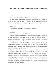 Aplicarea Actelor Administrative de Autoritate - Pagina 1