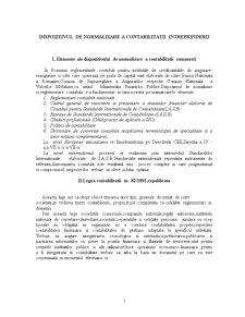 Dispozitivul de Normalizare a Contabilitatii Intreprinderii - Pagina 1
