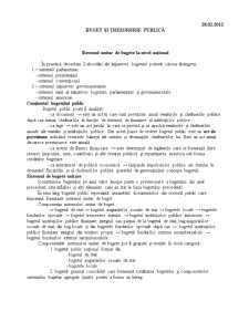 Buget și Trezorerie Publică - Pagina 1
