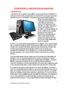 Întretinerea Componentelor Hardware - Pagina 1