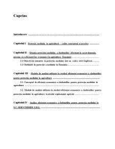 Analiza Eficienței Economice a Cheltuielilor pentru Protecția Mediului în Agricultură - Pagina 1