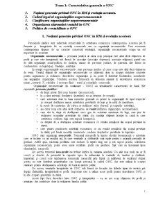 Caracteristica Generala a ONC - Pagina 1