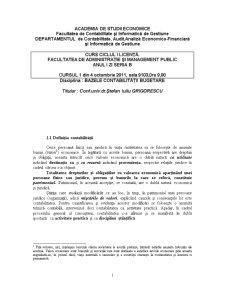 Suport de Curs - Bazele Contabilitatii Bugetare - Pagina 1