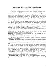 Tehnici de Promovare a Vanzarilor - Pagina 1