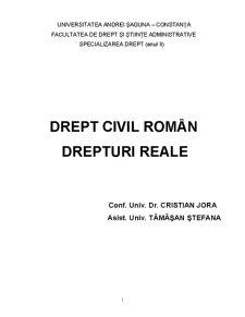 Drept Civil Roman - Drepturi Reale - Pagina 1