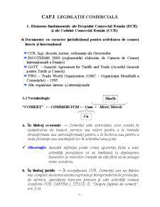 Legislatie si Drept Comercial - Pagina 1