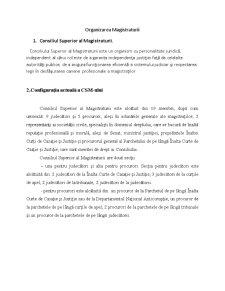 Organizarea Magistraturii - Pagina 1