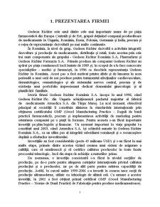 Analiza Sectorului Farmaceutic - Studiu de Caz Gedeon Richter România SA - Pagina 3