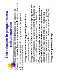 Utilizarea și Programarea Calculatorului - Pagina 2
