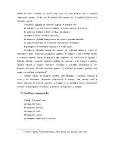 Particularitatile Activitatii de Transport, Caracteristici si Importanta - Pagina 5