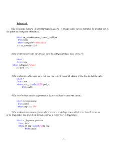Gestiunea unei Biblioteci în SQL 2005 - Pagina 5