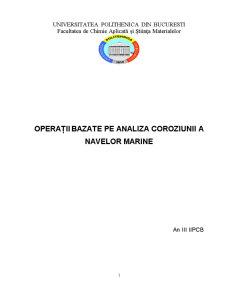 Operații Bazate pe Analiza Coroziunii a Navelor Marine - Pagina 1