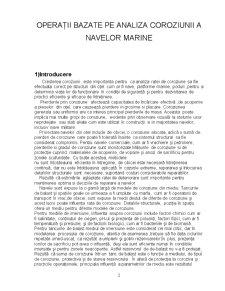 Operații Bazate pe Analiza Coroziunii a Navelor Marine - Pagina 2