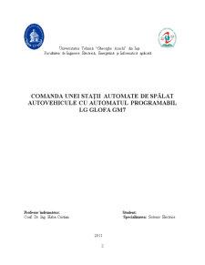 Comanda unei Stații Automate de Spălat Autovehicule cu Automatul Programabil LG Glofa GM7 - Pagina 2