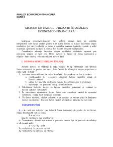Fundamentele Teoretice ale Analizei Economico-Financiare în Sistemul Economic - Curs 2 - Pagina 1